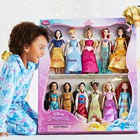 Disney Exclusive Princess Doll Collection - 12''- (11 Dolls:Snow White, Cinderella, Aurora, Ariel, Belle, Jasmine, Pocahontas, Mulan, Tiana, Rapunzel, and Merida)