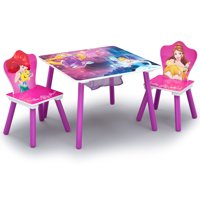 Disney Princess Wood Kids Storage Table and Chairs Set by Delta Children