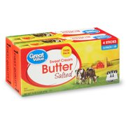 Great Value Sweet Cream Salted Butter Sticks, 2-pack, 32 oz, 8 Count