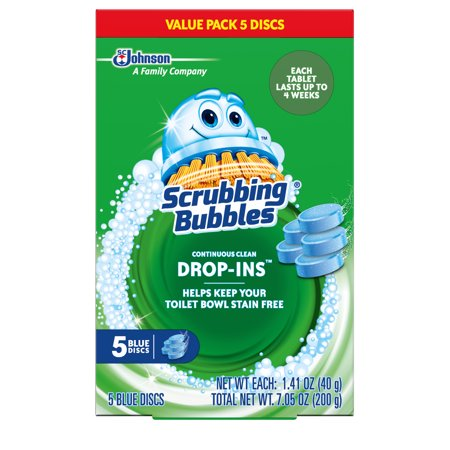 Bubble Disk (Scrubbing Bubbles Continuous Clean Drop-Ins, Blue Discs, 5 ct, 7.05 oz )