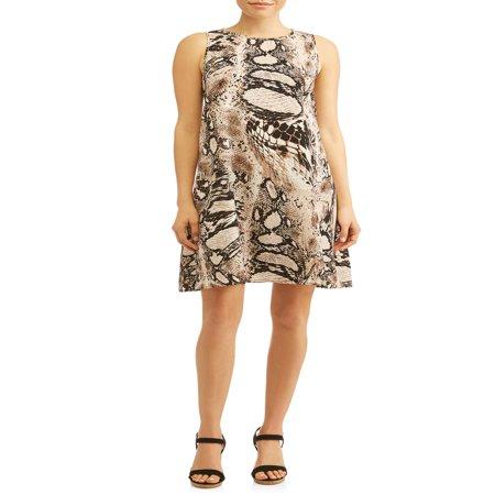 Women's Sleeveless Shift Dress](Modern Masquerade Dress)