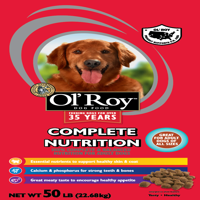 Ol' Roy Complete Nutrition Adult Dry Dog Food, 50 lb
