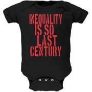 9425c45e3 Inequality is so Last Century Black Soft Baby One Piece