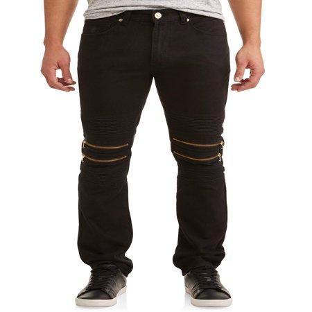 Men's Double Zip Moto Tapered Pants With Zipper (Zip Off Sport Pant)