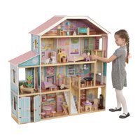 KidKraft Grand View Mansion Dollhouse with EZ Kraft Assembly and 34 Accessories