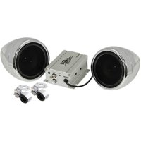 Boss Audio MC420B Chrome 600 watt Motorcycle/ATV Sound System w Bluetooth Audio Streaming
