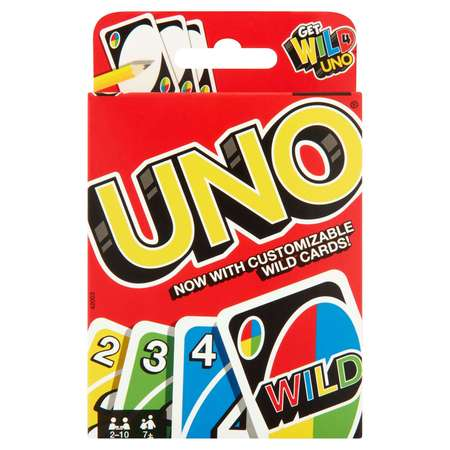 UNO Color & Number Matching Card Game for 2-10 Players Ages 7Y+ ()