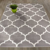 Sweet Home Stores King Collection Moroccan Geometric Trellis Design Area Rug