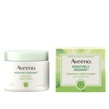 Aveeno Positively Radiant Intensive Moisturizing Night Cream, 1.7 (Positively Radiant Anti Wrinkle Cream)