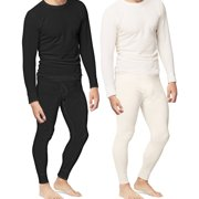 6a20f823f48 Mens 2pc Thermal Underwear Set Shirt Pants Top Bottom Waffle Knit Cotton  Long John