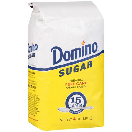 (3 Pack) Domino® Premium Sugar Cane Granulated Sugar 4 lb. (Lime Sugar Free Sugar)