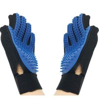 2-Pack Cleaning Brush Magic Gloves Pet Dog Cat Massage Hair Removal Grooming L&R