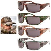 7c158d9342d 2Pc Mens Sunglasses Military Army Camouflage Camo Wrap Sports Hunting Shade  Lens