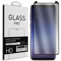 CoverON Samsung Galaxy S9 Tempered Glass Screen Protector - InvisiGuard Series Full Coverage 9H with Faceplate (Case Friendly)