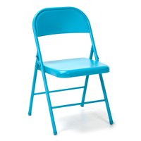 Novogratz All Steel Folding Chair, 2 pack, Multiple Colors