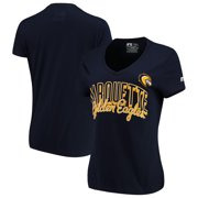 pretty nice b8443 4239a Marquette Golden Eagles Russell Women s Arch V-Neck T-Shirt - Navy
