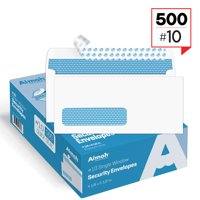#10 Single Left Window Security Tinted Self‐Seal Envelopes - 4‐1/8 x 9‐1/2 - 500 Count (35210)