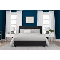 DHP Emily Upholstered Faux Leather Platform Bed with Wooden Slat Support, Tufted Headboard, Multiple Sizes and Colors