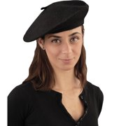 Black French Beret Hat Halloween Costume Accessory 6a2da810e47
