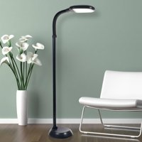 Lavish Home LED Sunlight Floor Lamp with Dimmer Switch