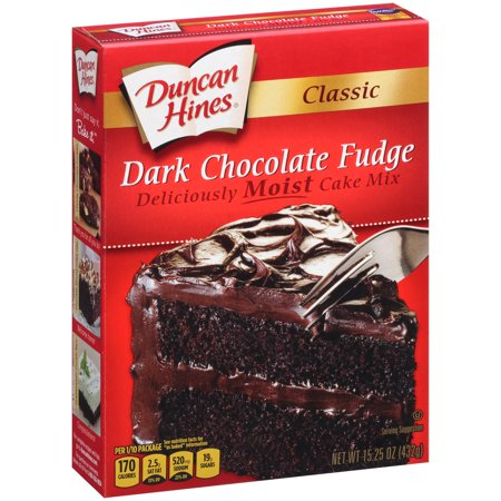 Duncan Hines Classic Dark Chocolate Fudge Cake Mix 15.25 oz for $<!---->