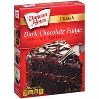 (2 pack) Duncan Hines Classic Dark Chocolate Fudge Cake Mix 15.25 oz