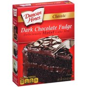 (2 pack) Duncan Hines Classic Dark Chocolate Fudge Cake Mix 15.25 oz