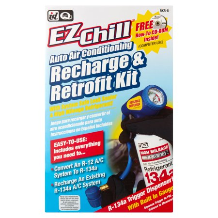 - ID Quest EZChill Auto Air Conditioning Recharge & Retrofit Kit
