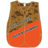 Atsko 1009 UV Killer Treated Hunting Vest with Velcro Straps, Blaze Camo