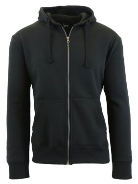 Product Image Mens Fleece Hoodie With Thermal Lined Hood Slim Fit Zip-Up Sweater