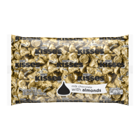 Kisses, Milk Chocolate with Almonds Candy, Gold Foil, 66.7 Oz - Online Only