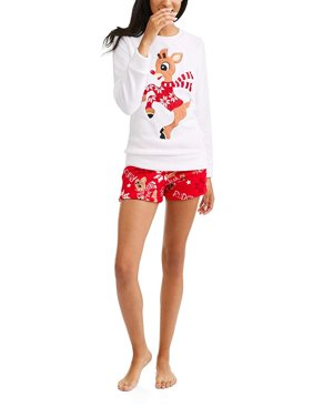 0bb9029579 Product Image Rudolph Grinch Spiderman Olaf Top and Short Plush Fleece  Womens 2 Piece Lounge Sleep Pajama Set. Product Variants Selector. Cookie  Monster