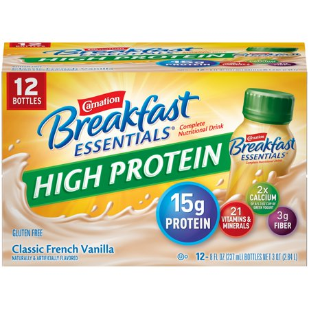 Carnation Breakfast Essentials High Protein Classic French Vanilla Nutritional Drink, 8 Fl. Oz., 12