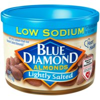 (3 Pack) Blue Diamond Almonds, Lightly Salted Almonds, 6 Oz