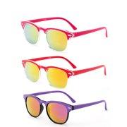 089c50d746 Newbee Fashion-Kyra Kids Two Tone Vintage Style Sunglasses Flash Mirror  Lens Girls Boys Sunglasses