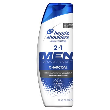 Mens Stamp (Head and Shoulders Men Advanced Series 2in1 Charcoal Shampoo to Deep Clean & Detox Scalp, 12.8 fl oz)