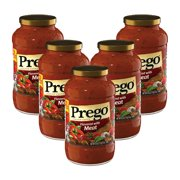 (5 Pack) Prego Italian Sauce Flavored with Meat Sauce, 24 oz.
