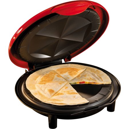 Nostalgia EQM200 6-Wedge Electric Quesadilla Maker with Extra Stuffing