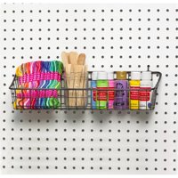 Spectrum Pegboard and Wall Mount Basket, Industrial Gray, Medium