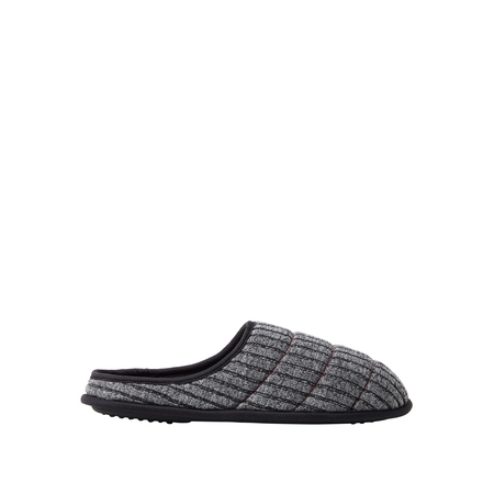 DF by Dearfoams Men's Quilted Rib Knit Clog Slippers