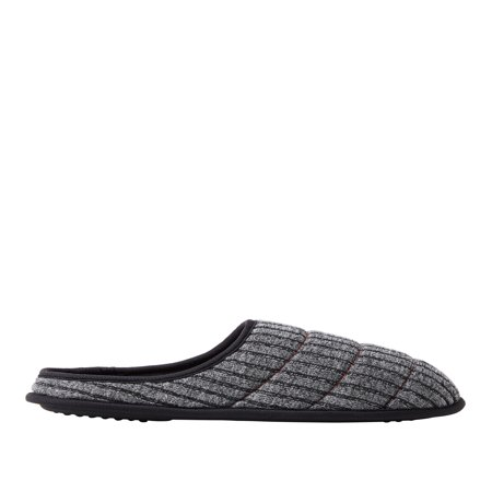 DF by Dearfoams Men's Quilted Rib Knit Clog Slippers - Funny Slippers For Men