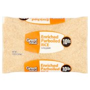 (2 Pack) Great Value Enriched Parboiled Rice, 10 lb