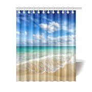 db4aa3c4a559 MYPOP Beach Ocean Theme Shower Curtain