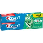 Crest Complete Whitening + Scope Minty Fresh Striped Toothpaste, 6.2 oz TWIN