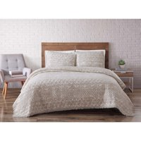 Brooklyn Loom Sand Washed Cotton Twin XL Quilt Set in White Sand