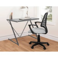 Urban Shop Silver Z Shaped Student Desk
