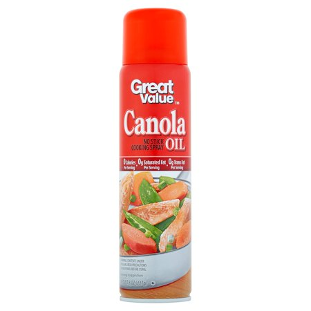 (3 Pack) Great Value Canola Oil Cooking Spray, 8 oz