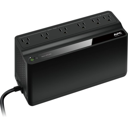 - APC UPS Battery Backup & Surge Protector, 450VA, APC Back-UPS (BN450M)