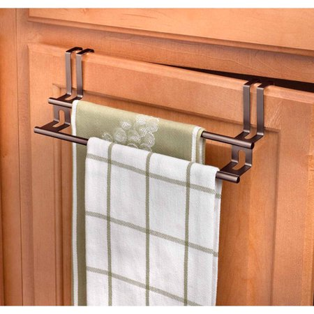 Spectrum Over The Drawer Cabinet Double Towel Bar Bronze