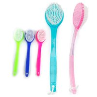 Bath Brush Back Scrub Scrubber Massager Body Shower Back 13.5 Handle Spa Pet New